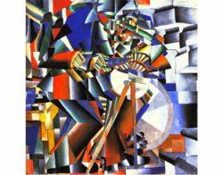 Kazimir Malevich: <em>Knife Grinder (Principle of Glittering)</em>, 1912–1913