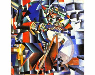 Kazimir Malevich: Knife Grinder (Principle of Glittering), 1912–1913