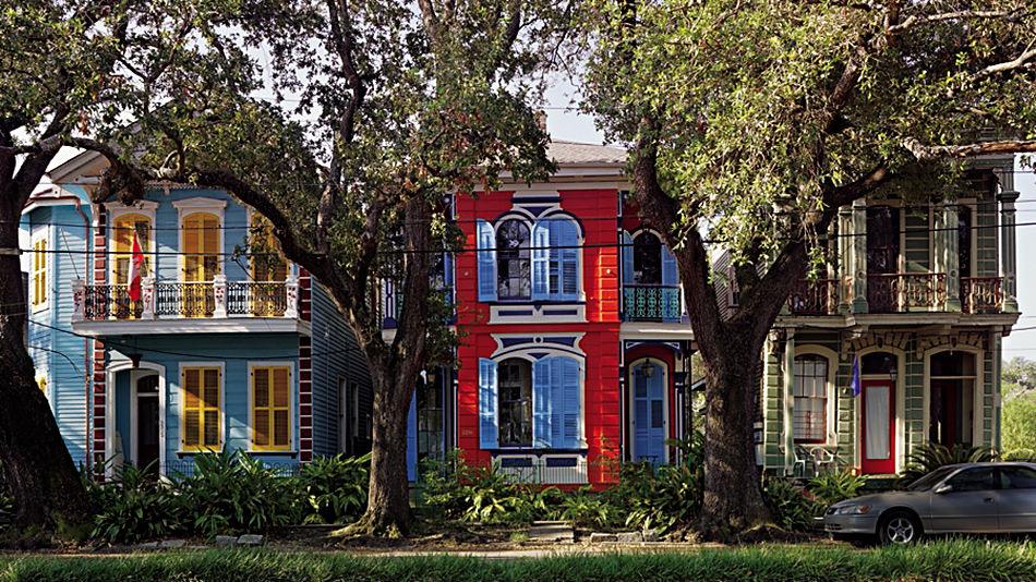 Richard Sexton: Three house facades on Esplanade Avenue.jpg