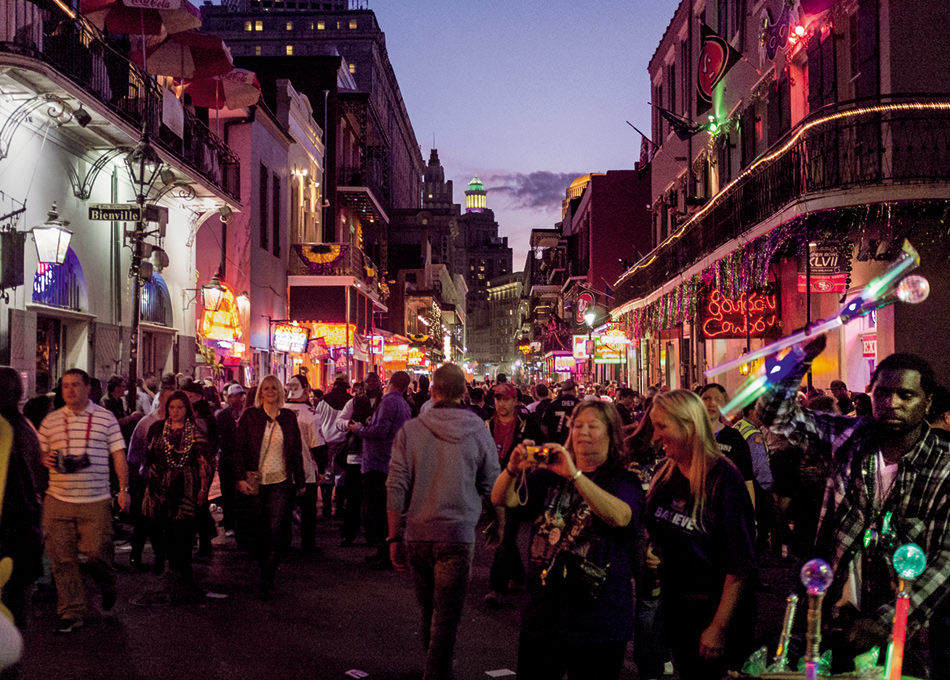 Saturday night on Bourbon Street, French Quarter; New Orleans; 2013.jpg