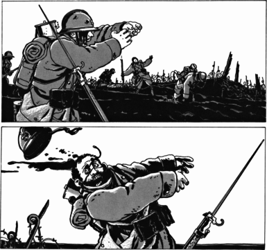 A failed infantry charge in Jacques Tardi's It Was the War of the Trenches