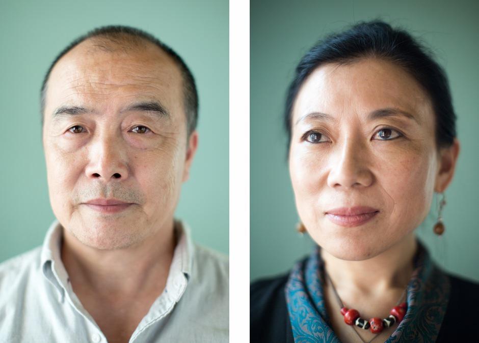 Wang Lixiong and Woeser portraits.jpg