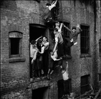 Arnold Eagle: <i>Boys Climbing the Fire Escape of a Deserted Building</i>, 1935