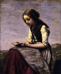 Jean-Baptiste-Camille Corot: <i>La Petite Liseuse</i>, circa 1855-1861
