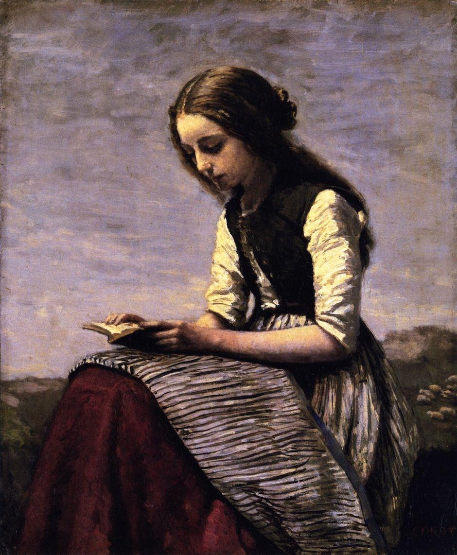 Jean-Baptiste-Camille Corot: La Petite Liseuse, circa 1855-1861