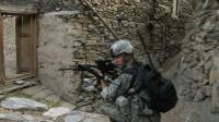 A soldier on patrol in Sebastian Junger's Korengal