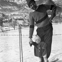 Ernest Hemingway and his son Jack, Schruns, Austria, 1925