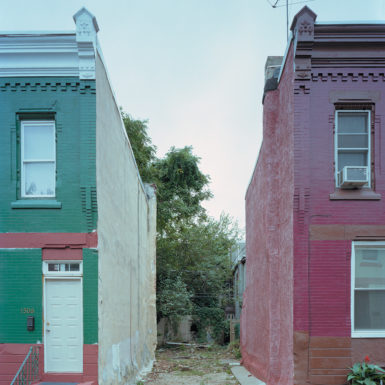 An empty lot in North Philadelphia, 2010; photograph by Daniel Traub, whose book, North Philadelphia, has just been published by Kehrer
