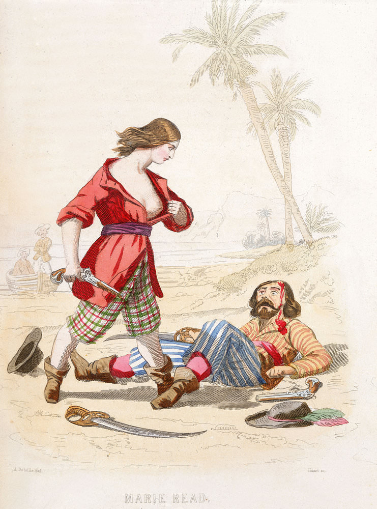 The pirate Mary Read, nineteenth-century print