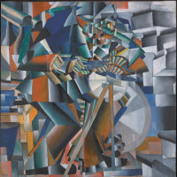 Kazimir Malevich: The Knife Grinder (Principle of Glittering), 1912–1913