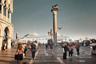 A cruise ship near the Piazza San Marco, Venice, May 2011