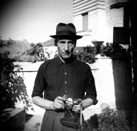 William S. Burroughs in the Hotel Villa Mouniria Garden, Tangier, 1961; from Patricia Allmer and John Sears's Taking Shots: The Photography of William S. Burroughs, published by Prestel
