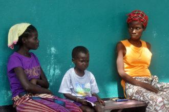 Three people with possible Ebola symptoms awaiting treatment near Monrovia, Liberia, October 24, 2014