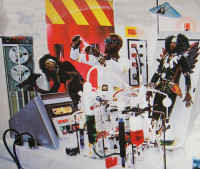 Detail from the album cover for The Clones of Dr. Funkenstein, 1976
