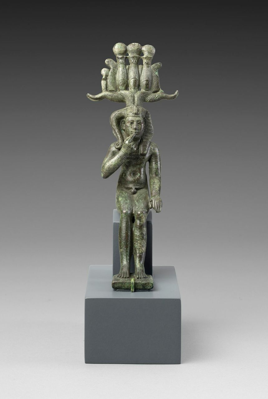 Statuette of the God Horus as a Child (Harpocrates) or Somtus .jpg