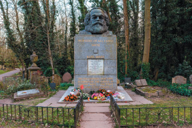 The grave of Karl Marx, Highgate Cemetery, London, March 2014