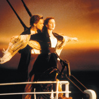 Leonardo Di Caprio and Kate Winslet in Titanic, 1997