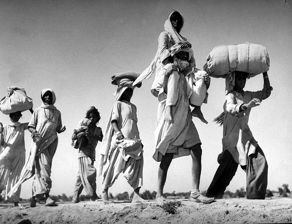 Sikhs migrating to Indian Punjab after the partition of India and Pakistan, 1947