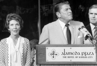 Nancy and Ronald Reagan at the Republican National Convention, Kansas City, Missouri, 1976