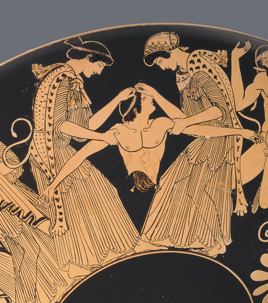 'The death of Pentheus'; detail of a red-figure cup by the Athenian painter Douris, circa 480 BC