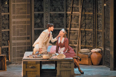Isabel Leonard as Cherubino and Marlis Petersen as Susanna in Richard Eyre's production of The Marriage of Figaro