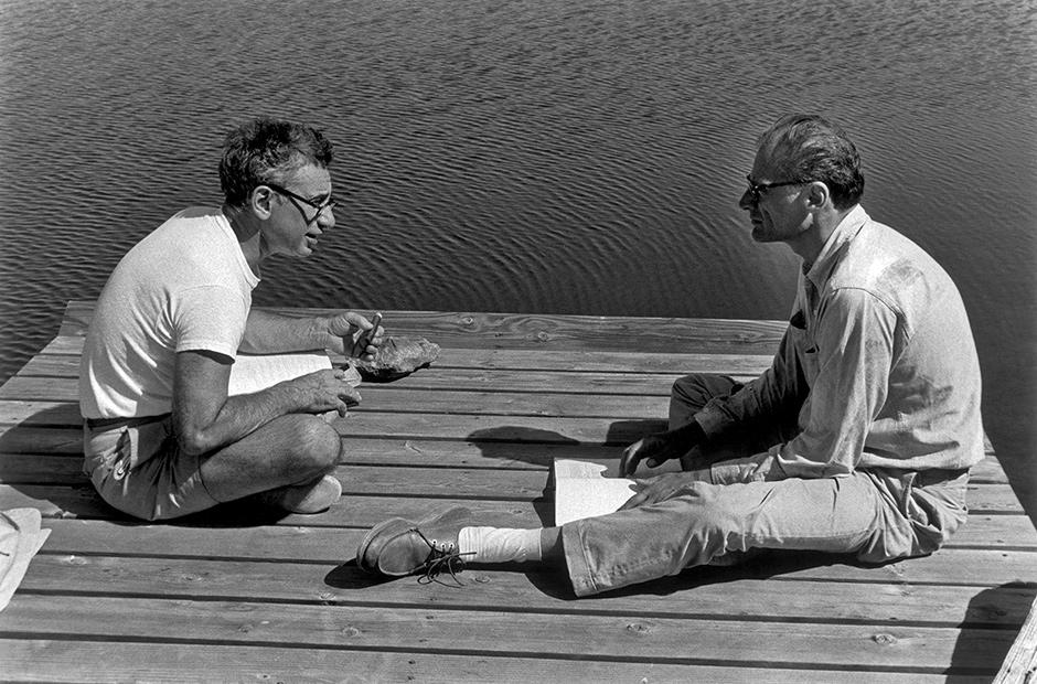 Elia Kazan and Arthur Miller, Roxbury, Connecticut, 1963