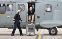 Nicolas Henin, one of four French hostages released by ISIS, arriving back in Paris, April 20, 2014