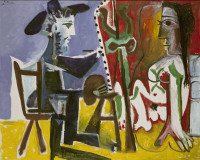 Pablo Picasso: <em>The Painter and the Model</em>, 1963