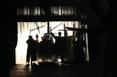 A scene from Michael Boyd's production of Tamburlaine at Theatre for a New Audience, 2014
