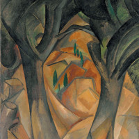 Georges Braque: Trees at L'Estaque, summer 1908