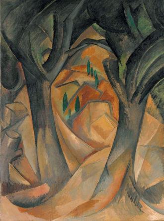 Georges Braque: Trees at L'Estaque, summer 1908