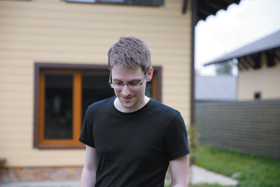 Edward Snowden in an unidentified location