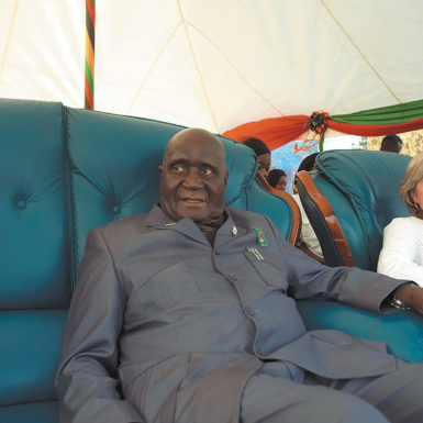 Zambia's former president Kenneth Kaunda, 2000