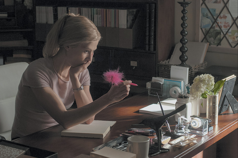 Rosamund Pike in David Fincher's Gone Girl, based on the novel by Gillian Flynn