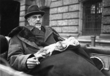 The German industrialist and statesman Walther Rathenau, who was from a wealthy ­Jewish family, in the car in which he was assassinated in Berlin in June 1922