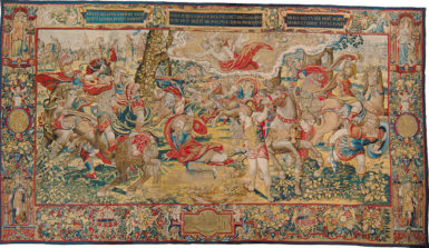 'The Conversion of Saul'; tapestry designed by Pieter Coecke van Aelst, 13 feet 10 5/8 inches x 24 feet 6 5/8 inches, circa 1529–1530, probably woven in Brussels before 1563