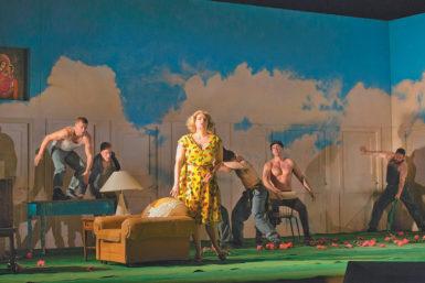 Eva-Maria Westbroek as Katerina in the Metropolitan Opera production of Dmitri Shostakovich's Lady Macbeth of Mtsensk