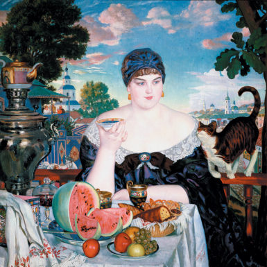 Boris Kustodiev: The Merchant's Wife's Tea, 1918