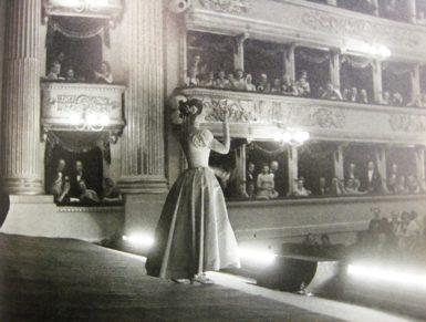 Maria Callas in La Sonnambula at La Scala, circa 1955