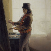 Francisco Goya: Self-Portrait While Painting, circa 1795