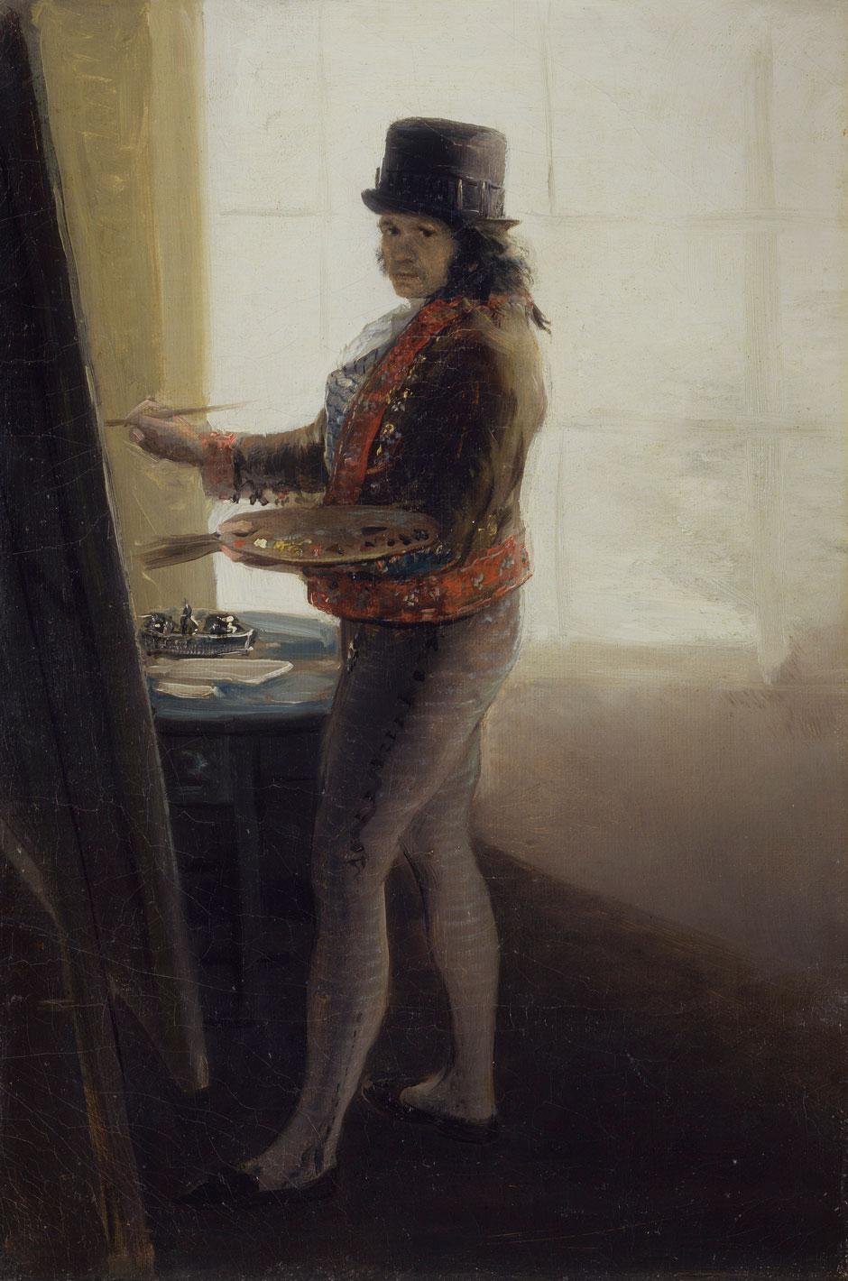 Francisco Goya: Self-Portrait While Painting, circa 1795