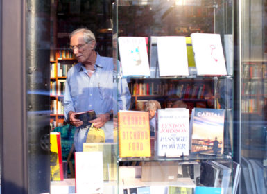 The poet Mark Strand at 192 Books in Manhattan, July 11, 2012