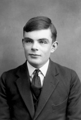 Alan Turing as a young man