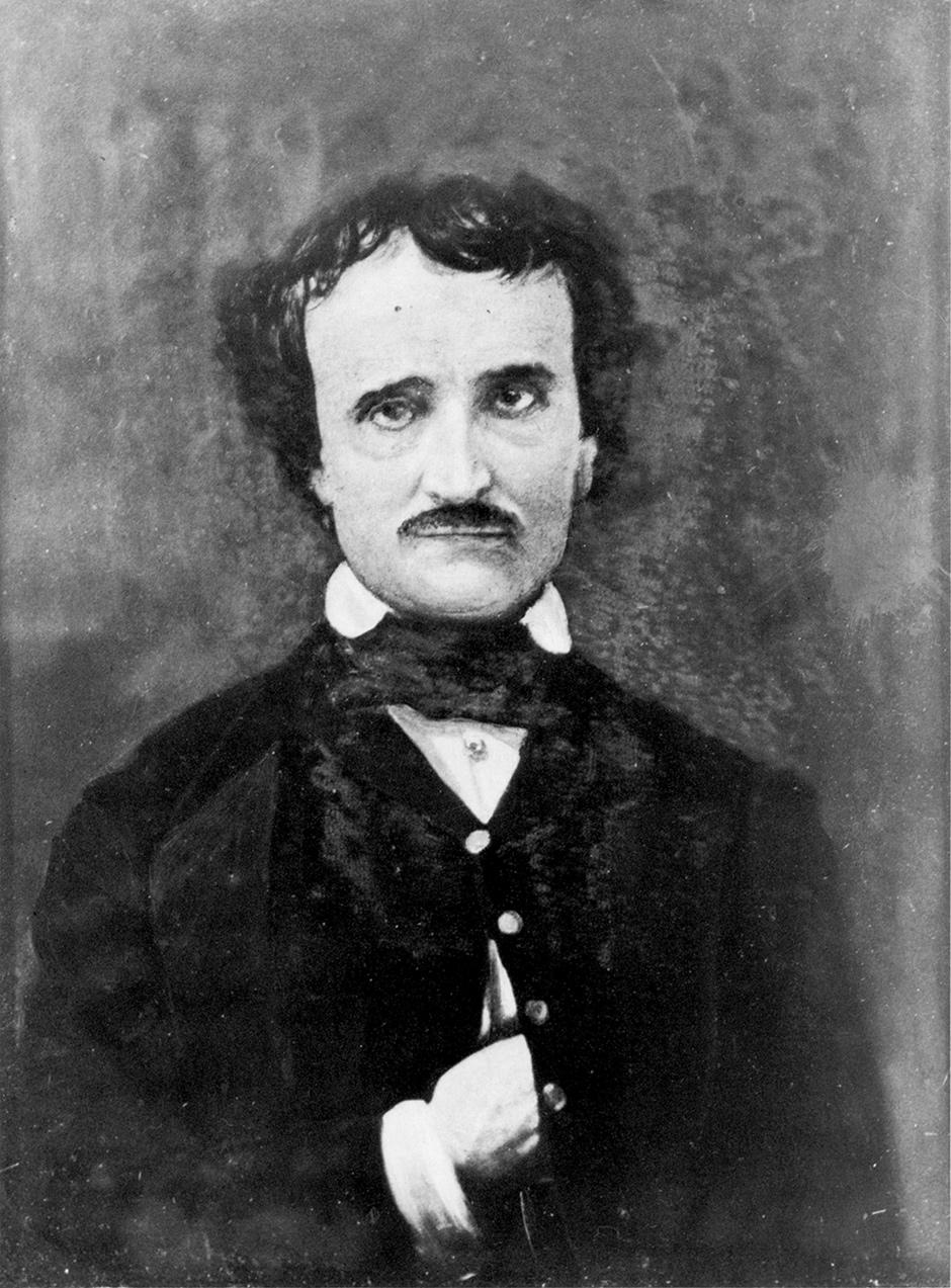 Edgar Allan Poe; portrait by Gabriel Harrison, 1896