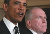 President Barack Obama announcing his nomination of John Brennan, right, to head the CIA, January 2013