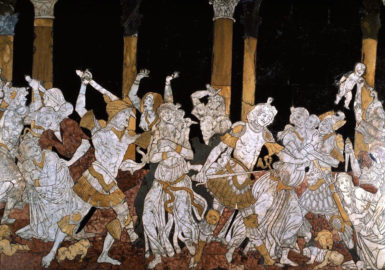 Matteo di Giovanni: Massacre of the Innocents (detail), inlaid marble mosaic, 1481-1482