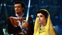 Robert Taylor as Ivanhoe and Elizabeth Taylor as Rebecca in Richard Thorpe's Ivanhoe, 1952