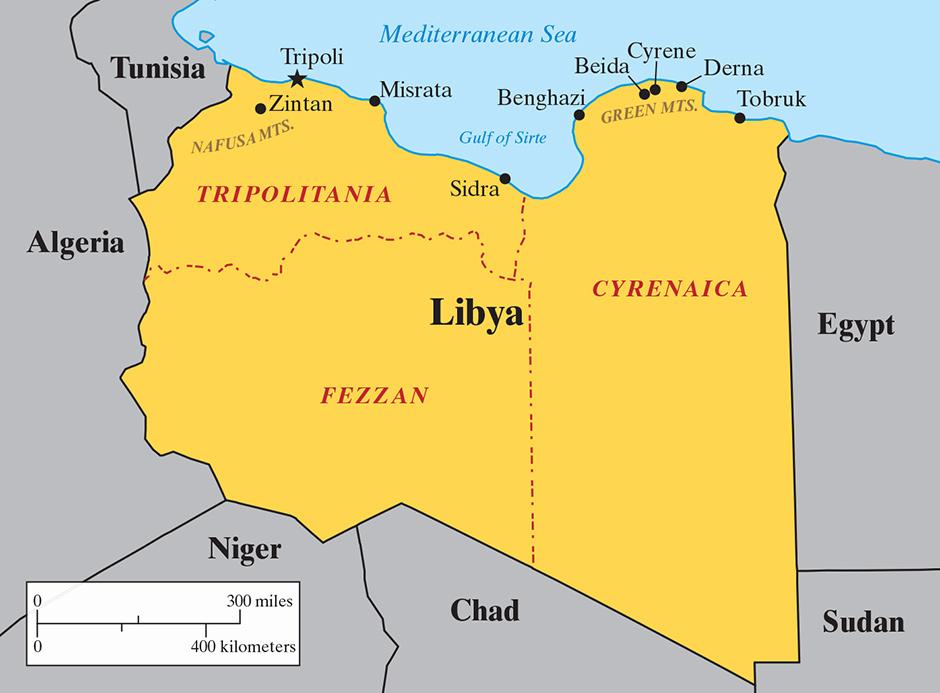 Libya against itself by nicolas pelham the new york review of books pelham libyamap 020515g gumiabroncs Choice Image