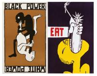 Tomi Ungerer: left, Black Power/White Power, 1967, right, Eat, 1967