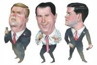 Jeb Bush, Scott Walker, and Marco Rubio
